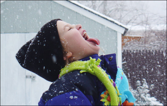 Image result for kids with snow