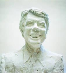 President Jimmy Carter, plaster, 1974.