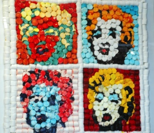 "Andy Warhol's ""Marilyn Monroe"" using marshmallows for the Orange County Fair in 2010."