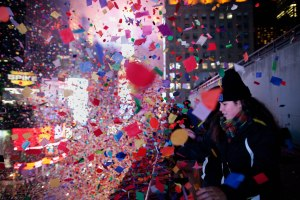 At the Times Square Visitor's Center, you can write out a wish on a piece of confetti. On Dec. 31, each piece is collected and mixed in with the rest to be dispersed over the crowd.