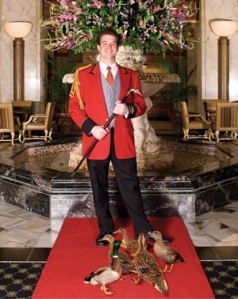 """It's not a very subtle outfit, but it's not a very subtle job,"" says Anthony Petrina, who has been the duckmaster at the Peabody Hotel for about three years."