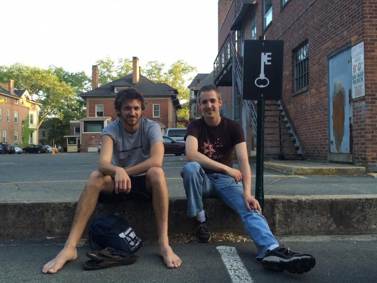 Ethan Rodriguez-Torrent (right) with his co-founder, Sutter.